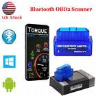 Mini Bluetooth OBD2 Scanner Code Reader Car Check Engine Fault Diagnostic Tool
