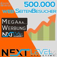 500.000 (500k) Webseiten Besucher ✔︎ Homepage Traffic ★ SEO ★ online Werbung