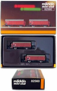 MARKLIN Z SCALE 82560  DRG High Capacity 2 Boxcar Set  Original Box - C9