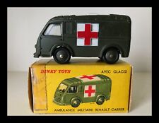 FRENCH DINKY TOYS RENAULT ARMY AMBULANCE - No. 80F - VG MODEL - RARE W/ORIG BOX
