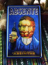 Van Gogh Liqueur ABSENTE D' ABSINTHE Metal Tin Sign Artemisia absinthium Deco Ad