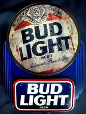 o'o'o . Bud Light Anheuser-Busch Lighted Beer Sign . . Sharp!