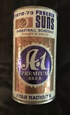12oz A-1 Beer 1972-73 Phoenix Suns Commemorative Schedule Bank Can Arizona