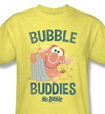 Mr. Bubble T-shirt Buddies vintage inspired retro yellow 100% cotton graphic tee
