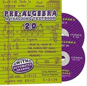 Pre-Algebra: A Teaching Textbook 2.0 PC CD explainations solution tests step CDs