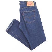 Vintage LEVI'S 501 Blue Denim Regular Straight Jeans Mens W34 L31