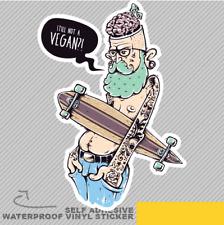 Urban Hipster Uomini non ancora un adesivo decalcomania in vinile Vegan Finestra Auto Van Bici 2156