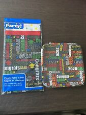 New ListingClass of 2020 Graduation Party Supplies-12 Plates & Table Cover Nwt