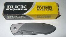 Boxed Buck Nobleman Pocketknife 5860 B327-TT-0 Framelock Titanium StainlessSteel