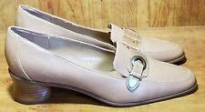 Worthington Women's Leather And Croc Skin Print Pumps Block Heel  City Heel