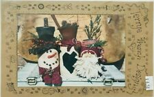 New ListingTerrye French Christmas Tole Painting Pattern Packet Holiday Fabric Jars #729