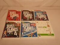 Lot Nintendo Wii Games (Just Dance 1-4, Summer Party) Complete, Tested & Cleaned