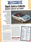 Opel Astra Cabrio 2001 GERMANY DEUTSCHLAND ALLEMAGNE Car Auto FICHE FRANCE