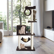 "55"" Cat Tree Kitty Furniture Toys Condos Scratching Posts Cat House Pet Supply"