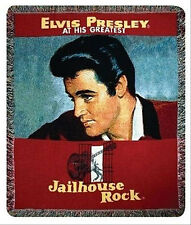 Elvis Presley Jailhouse Rock Record Cover Tapestry Afghan Throw
