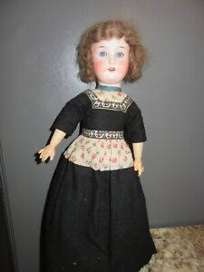 ANTIQUE HEUBACH KOPPELSDORF 250-0 GERMANY BISQUE DOLL JOINTED BODY GLASS EYES