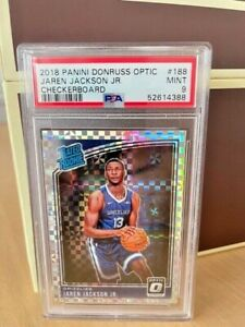 2018-19 Donruss Optic Jaren Jackson Jr RC Checkerboard #188 SSP Rookie PSA 9 MNT