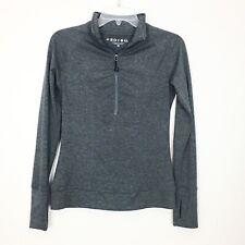 Soybu Gray 1/2 Half Zip Mock Neck Yoga Athletic Stretch Pullover Women's Size Xs