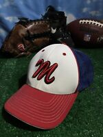 Letter M Maryland Madness Red Blue white Pacific Pro model hat Cap flex fit H33