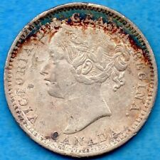 Canada 1900 10 Cents Ten Cent Silver Coin - Scratches