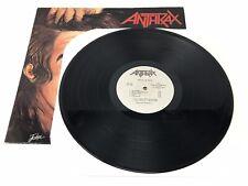 Anthrax Fistful Of Metal LP Vinyl Megaforce Records 1984 Red Logo Silver Label