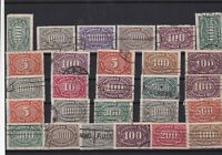 Germany Weimar republic 1918-1930 used Stamps Ref 16027