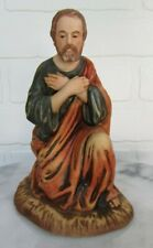 """Vintage Bisque Porcelain Roman Nativity Joseph Christmas Beautiful! 6"""""""
