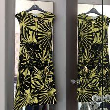 Debenhams Size 16 Black & green Dress.    (104)