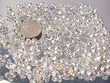 350 CLEAR & AB PRECIOSA CRYSTAL RHINESTONES LOT ASSORTED REPAIR JEWELRY DESIGN