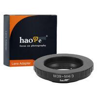 Adapter for M39 39mm Screw Mount Lens to Olympus Panasonic MFT M4/3 M43 Camera