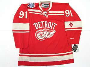 FEDOROV DETROIT RED WINGS 2014 NHL WINTER CLASSIC REEBOK HOCKEY JERSEY SIZE 2XL