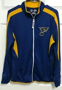 ST LOUIS BLUES Women Full Zip Fan Fashion Cool Base Track Jacket XL Majestic NHL