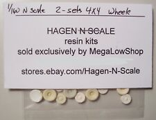 1/160 N SCALE RESIN - 2 SETS 4 x 4 WHEELS