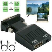 VGA To HDMI Adapter Full HD 1080P Audio Video Converter Laptop To J0O3