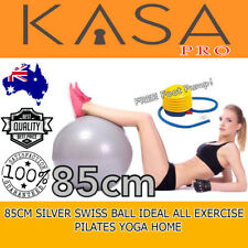 All Exercise Pilates Yoga Home Anti Burst 85 Cm Colour Silver Swiss Ball Ideal