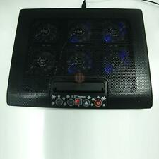 "6 Fans LED 2 USB Cooling Cooler Pad for 12""-17"" Laptop PC Adajustable Stand"