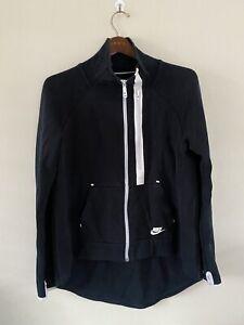 Mens Nike Black Full Zip Tracksuit Top Jacket Sz XL