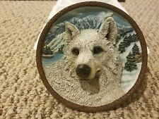 Faces of the Wild: The White Wolf Collector Plate 3D 2nd Issue Bradford Exchange