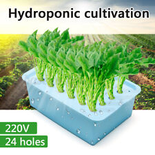 New listing Us 220V 24 Holes Plant Site Hydroponic System Grow Kit Indoor Cabinet Box Garden