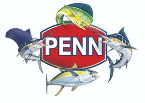PENN FISHING STICKER OCEAN MIX DECAL LABEL DECAL LURE REEL TACKLE BOX USA