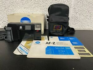 MINOLTA AF-Z 35mm Film Camera Vintage Point and Shoot - Boxed with Instructions