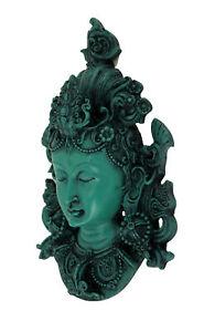 Zeckos Buddhist Red Tara Mask Wall Hanging