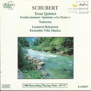 Schubert: [1988] Trout Quintet; Notturno; Hokanson/ Ensemble Villa Musica     CD