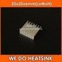 20pcs 20*20*6mm Aluminum Cooling Cooler Heatsink Heatsinks For IC LED
