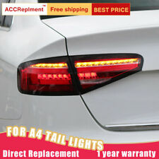 2 Pcs For Audi A4 LED Taillights Assembly Red LED Rear Lamps 2013-2016