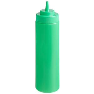 Choice 24 oz. Wide Mouth Squeeze Bottle - 6/Pack (select color)