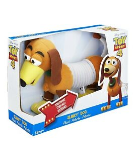 "Rare Disney Pixar Toy Story 4 2018 Slinky Dog 12"" Plush Toy NEW IN BOX FREE SHIP"
