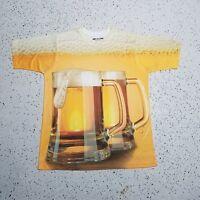 Get A Life Men's Beer Shirt ~ Orange & Brown ~ Sz L