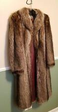 Vintage Raccoon Full Length Fur Coat Jorges Furs of Minneapolis Warm Fashion Lot