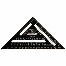 """Johnson Johnny Square Black Professional Rafter Roofing Angle Square 7"""" 1904-07"""